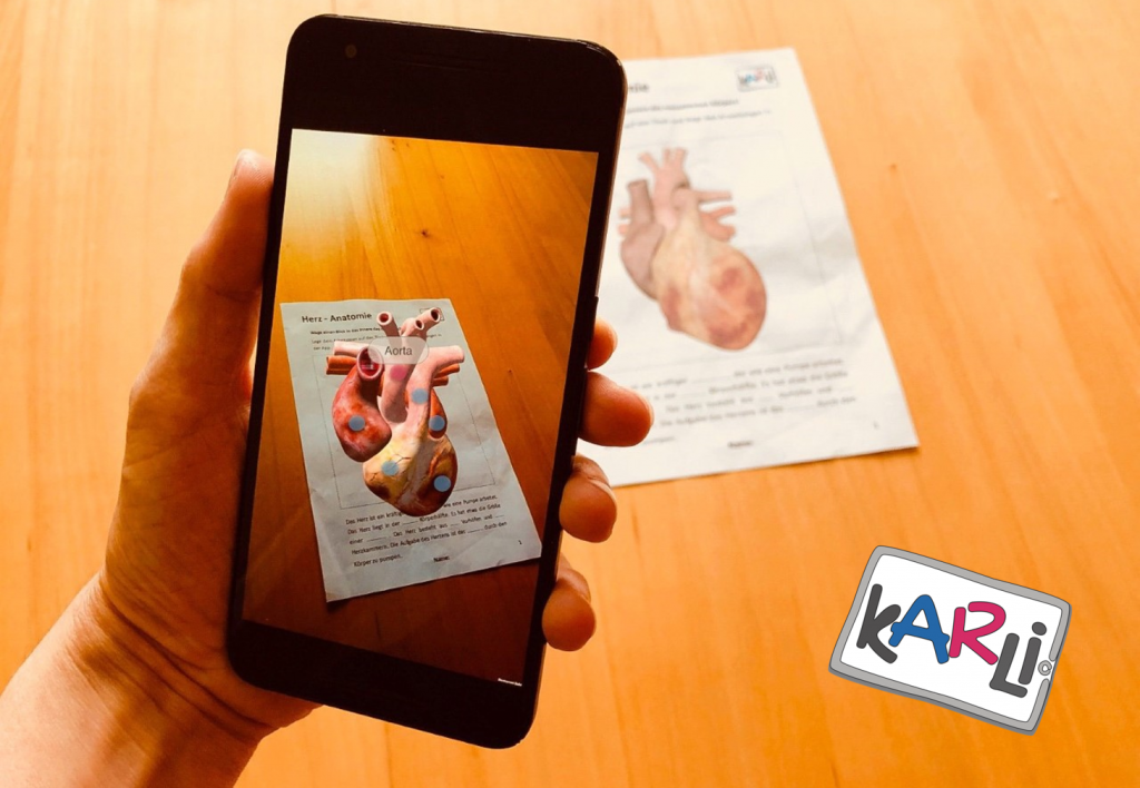 look into KARLI - AR mode on smartphone